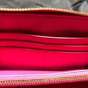 Tory Burch Bags - Tory Burch pink leather wallet